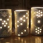 Lampes à trous - nuit