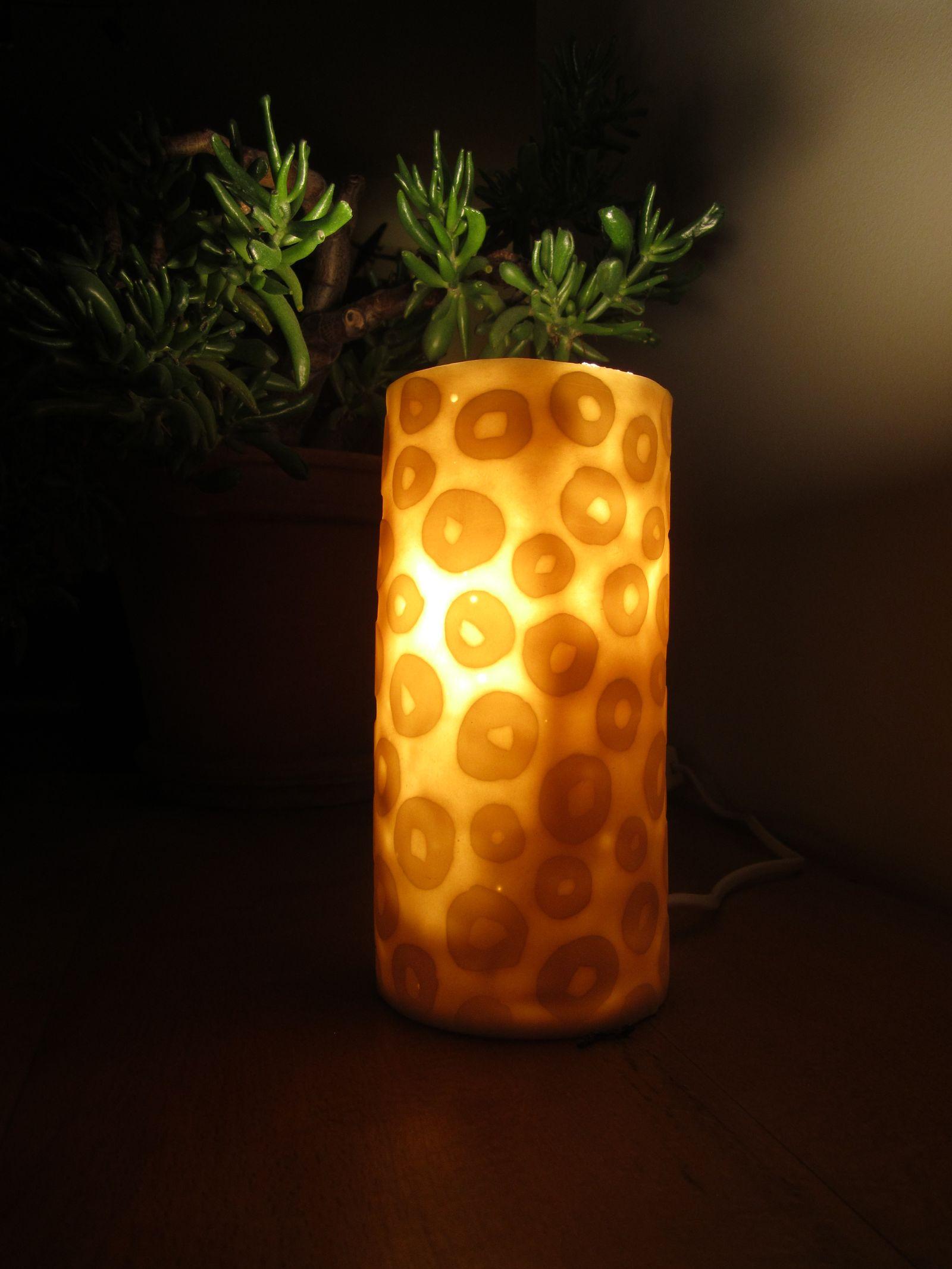 Lampe lithophanie - nuit