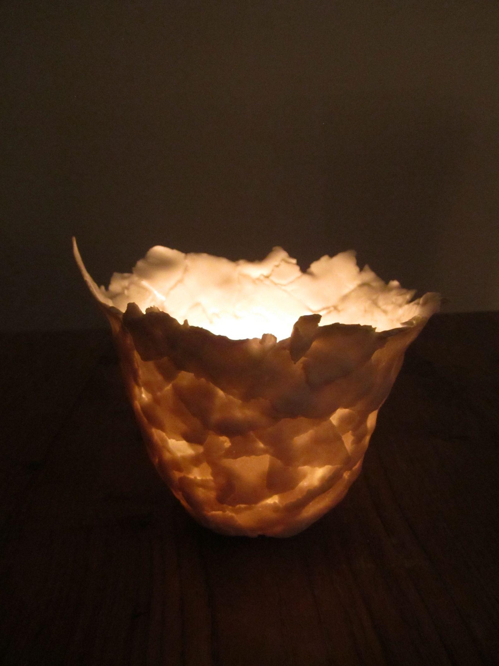 Vase paperclay lumière