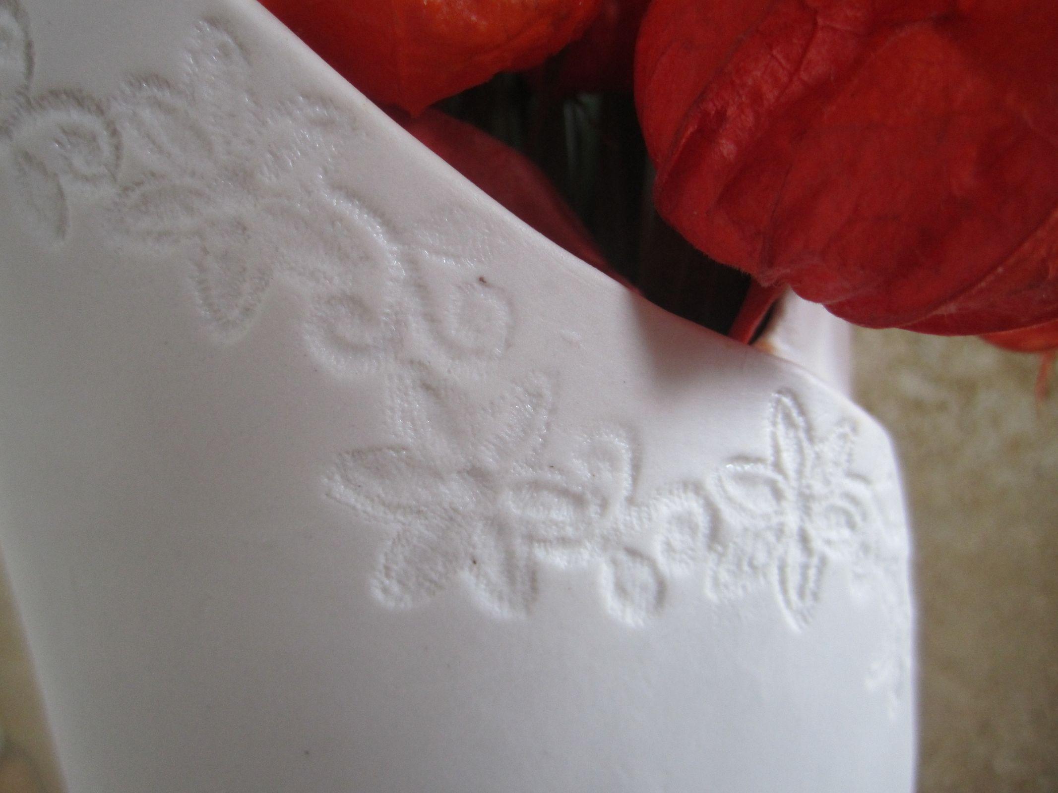 Vase haut porcelaine detail
