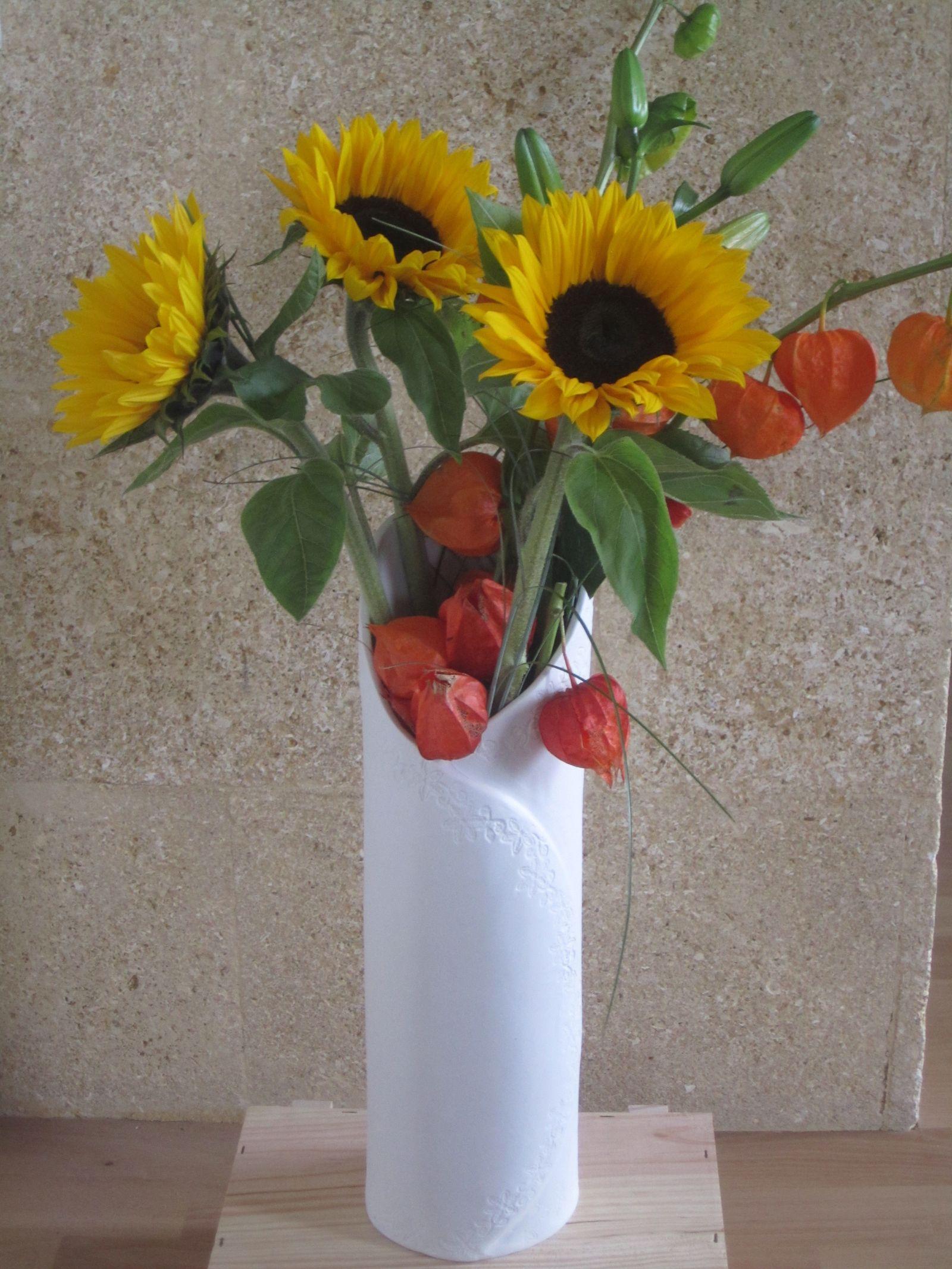 Vase haut porcelaine