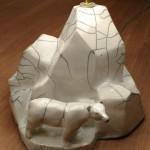 Lampe iceberg raku 3