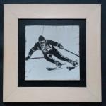 Skieur vintage Killy