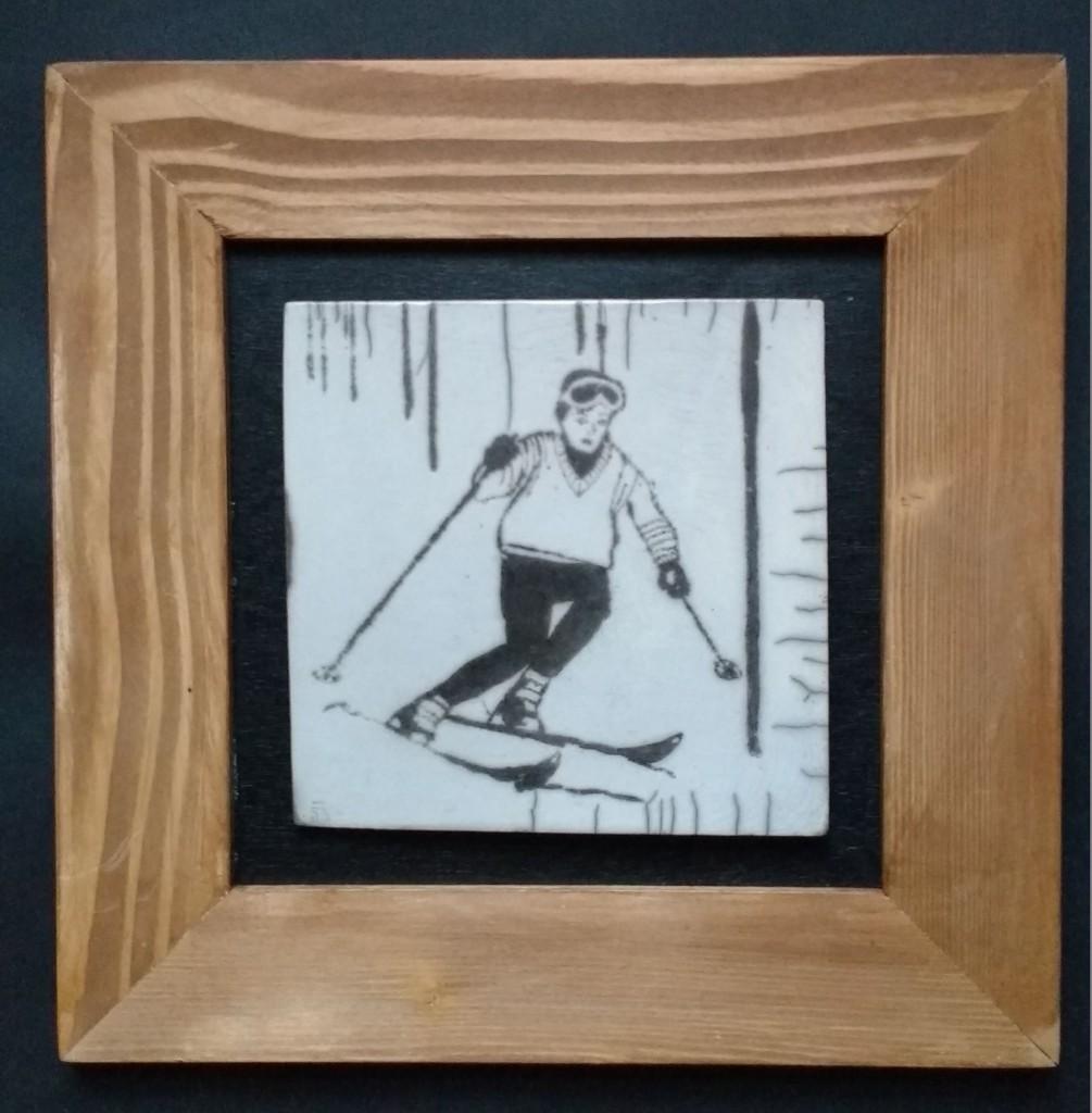 Skieur vintage Serge
