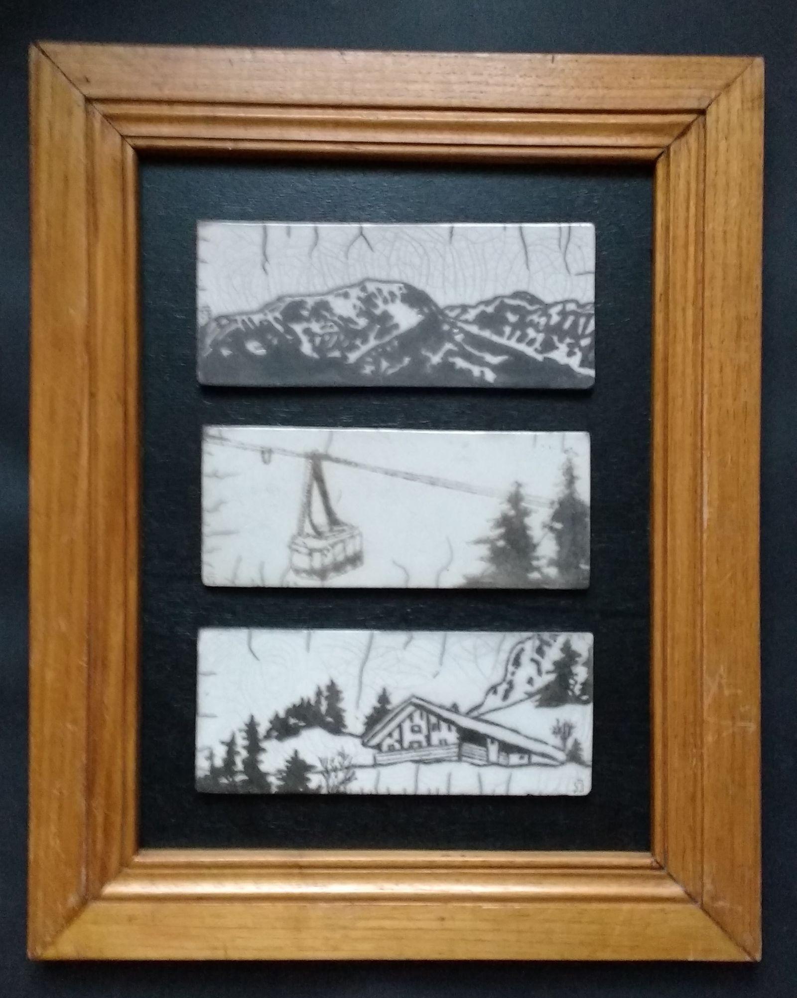 Triptyque Mont Blanc telecabine chalet
